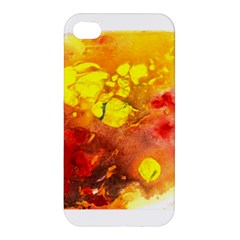Fire, Lava Rock Apple Iphone 4/4s Hardshell Case by timelessartoncanvas