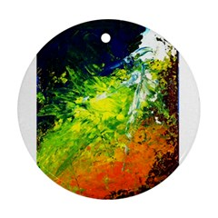 Abstract Landscape Ornament (round)