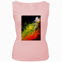 Abstract Landscape Women s Pink Tank Tops