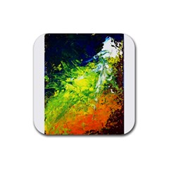 Abstract Landscape Rubber Coaster (square)