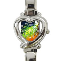 Abstract Landscape Heart Italian Charm Watch
