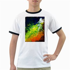Abstract Landscape Ringer T Shirts