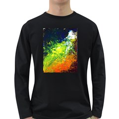 Abstract Landscape Long Sleeve Dark T Shirts
