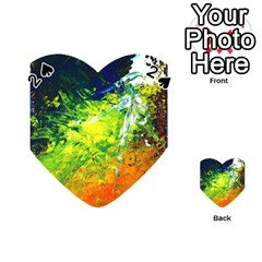 Abstract Landscape Playing Cards 54 (heart)
