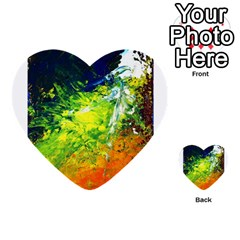 Abstract Landscape Multi Purpose Cards (heart)  by timelessartoncanvas