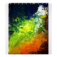 Abstract Landscape Shower Curtain 66  X 72  (large)