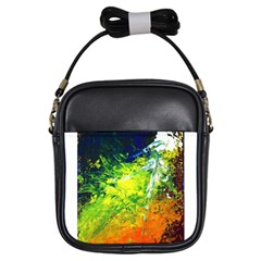Abstract Landscape Girls Sling Bags