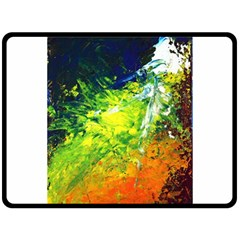 Abstract Landscape Fleece Blanket (large)