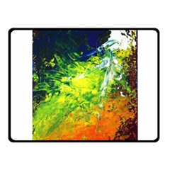 Abstract Landscape Fleece Blanket (small) by timelessartoncanvas