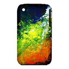 Abstract Landscape Apple Iphone 3g/3gs Hardshell Case (pc+silicone)