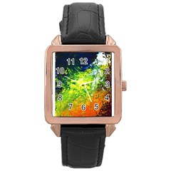 Abstract Landscape Rose Gold Watches
