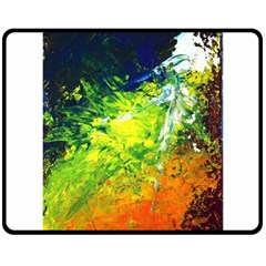 Abstract Landscape Double Sided Fleece Blanket (medium)