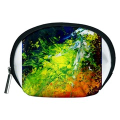 Abstract Landscape Accessory Pouches (medium)  by timelessartoncanvas