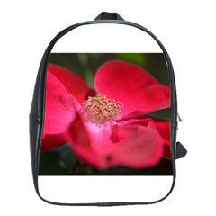 Bright Red Rose School Bags(large)  by timelessartoncanvas