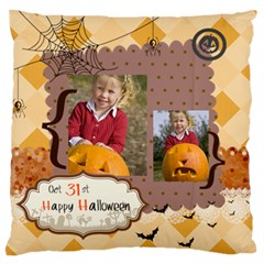 Halloween By Helloween   Large Flano Cushion Case (two Sides)   Uwl35box26p3   Www Artscow Com Front