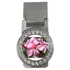 Pink Oleander Money Clips (cz)  by timelessartoncanvas