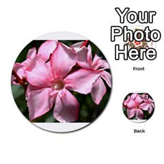 Pink Oleander Multi Purpose Cards (round)  by timelessartoncanvas