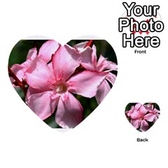 Pink Oleander Multi Purpose Cards (heart)  by timelessartoncanvas