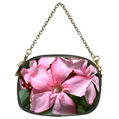 Pink Oleander Chain Purses (one Side)  by timelessartoncanvas