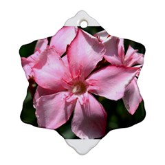 Pink Oleander Snowflake Ornament (2 Side)