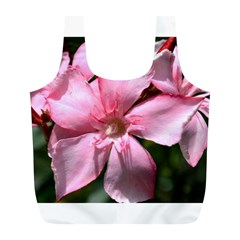 Pink Oleander Full Print Recycle Bags (l)  by timelessartoncanvas