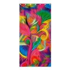 Colorful Floral Abstract Painting Shower Curtain 36  X 72  (stall)