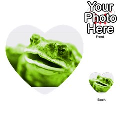 Green Frog Multi Purpose Cards (heart)