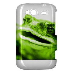 Green Frog HTC Wildfire S A510e Hardshell Case by timelessartoncanvas