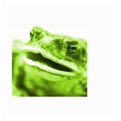 Green Frog Small Garden Flag (two Sides)