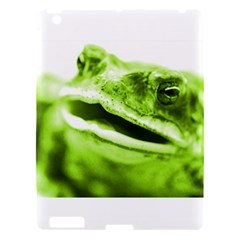 Green Frog Apple Ipad 3/4 Hardshell Case by timelessartoncanvas