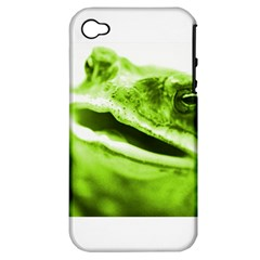 Green Frog Apple Iphone 4/4s Hardshell Case (pc+silicone) by timelessartoncanvas