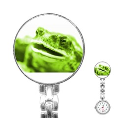 Green Frog Stainless Steel Nurses Watches by timelessartoncanvas
