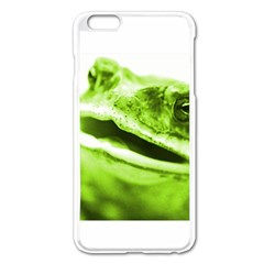 Green Frog Apple iPhone 6 Plus Enamel White Case by timelessartoncanvas