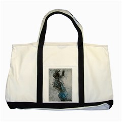 Ghostly Fog Two Tone Tote Bag  by timelessartoncanvas