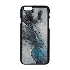 Ghostly Fog Apple Iphone 6 Black Enamel Case by timelessartoncanvas
