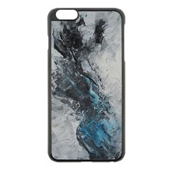 Ghostly Fog Apple Iphone 6 Plus Black Enamel Case by timelessartoncanvas