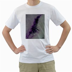 The Power Of Purple Men s T Shirt (white) (two Sided) by timelessartoncanvas