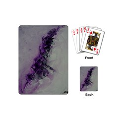 The Power Of Purple Playing Cards (mini)  by timelessartoncanvas
