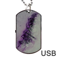 The Power Of Purple Dog Tag Usb Flash (one Side) by timelessartoncanvas