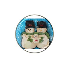 Snowman Family Hat Clip Ball Marker