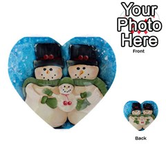 Snowman Family Multi Purpose Cards (heart)  by timelessartoncanvas