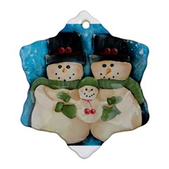 Snowman Family Snowflake Ornament (2 Side)