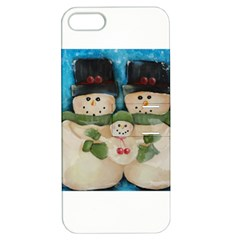 Snowman Family Apple Iphone 5 Hardshell Case With Stand by timelessartoncanvas