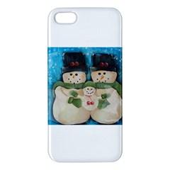 Snowman Family Apple Iphone 5 Premium Hardshell Case by timelessartoncanvas