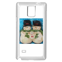 Snowman Family Samsung Galaxy Note 4 Case (white) by timelessartoncanvas