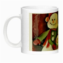 Snowman Family No  2 Night Luminous Mugs by timelessartoncanvas
