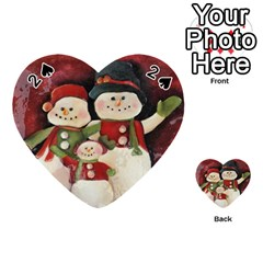 Snowman Family No  2 Playing Cards 54 (heart)