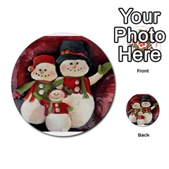 Snowman Family No  2 Multi Purpose Cards (round)  by timelessartoncanvas
