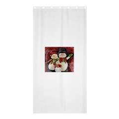 Snowman Family No  2 Shower Curtain 36  X 72  (stall)