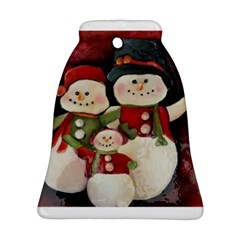 Snowman Family No  2 Bell Ornament (2 Sides) by timelessartoncanvas